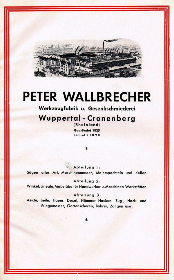Peter Wallbrecher Fabrikansicht